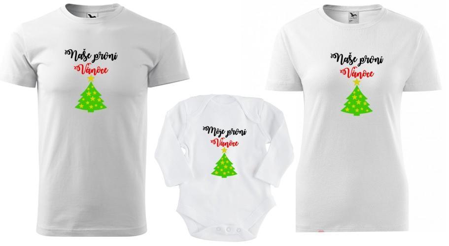 Rodinná Vánoční sada - PRVNÍ VÁNOCE (pánské tričko)   Zboží prodejce Skvělý  Triko  05800233fab