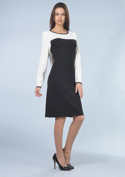 c0174450a40e Černo-bílé šaty s dlouhým rukávem-6413   Zboží prodejce ...