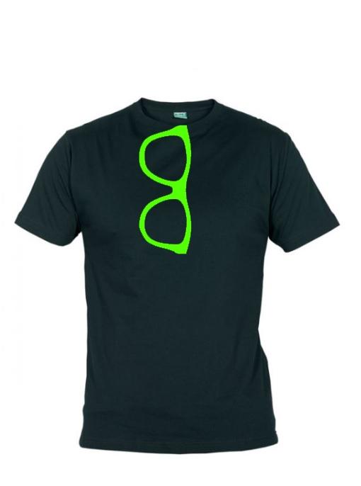 9af346f7324d Brýle - pánské tričko - neon zelená   Zboží prodejce Skvělý Triko ...