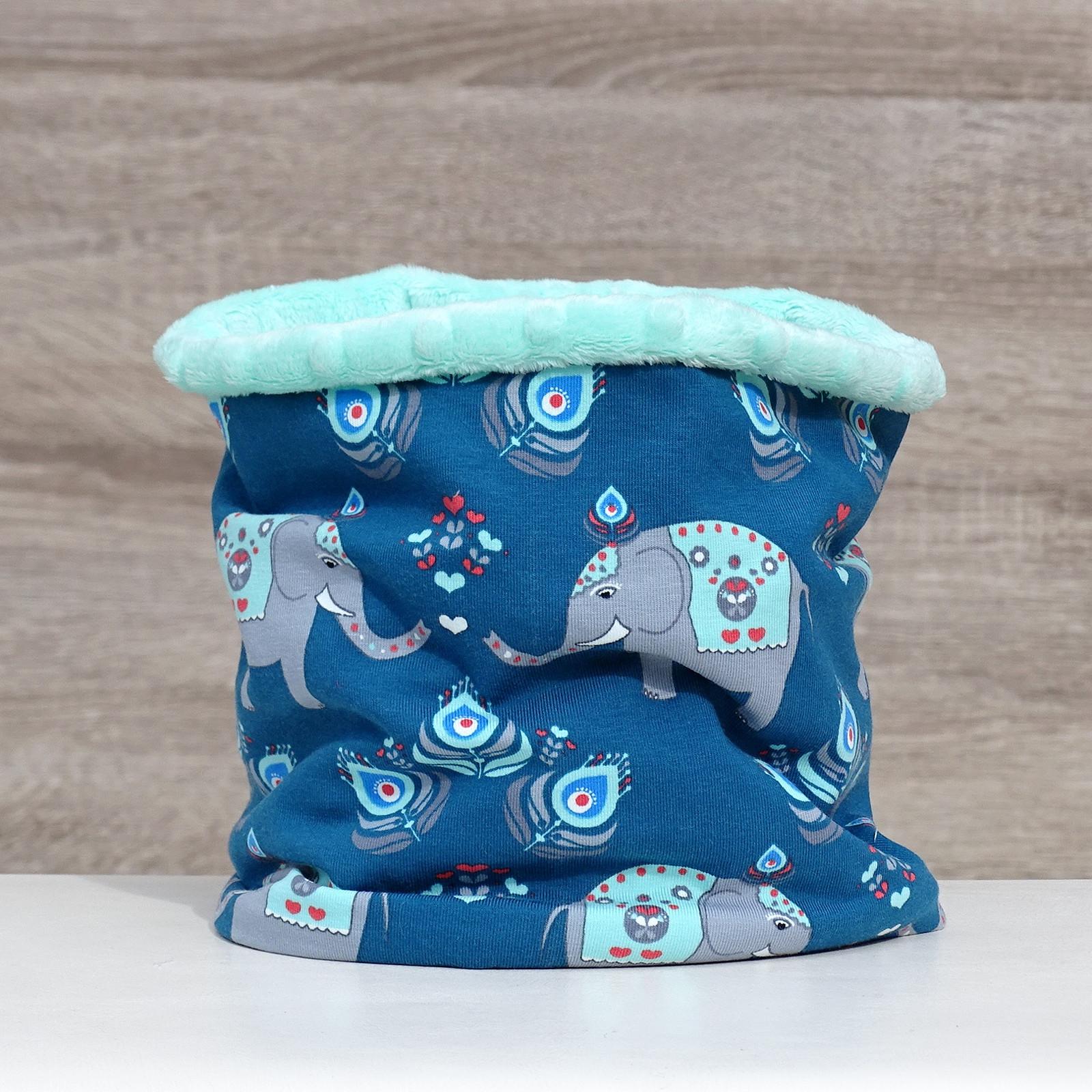 453aa697ccc nákrčník zateplený orientální sloni na mintové   Zboží prodejce ...