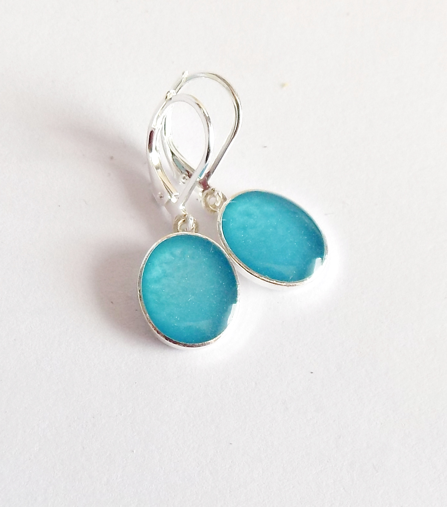 Světlé modré perleťové naušnice   Zboží prodejce 1ája123  bd923d58e9e