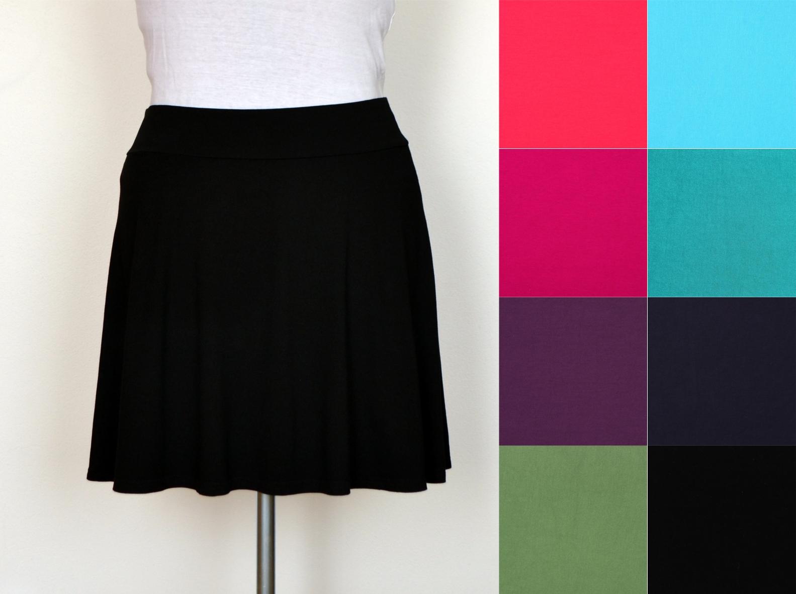 44868665c18 jednobarevná sukně (úplet) - mnoho barev (sukně úplet)   Zboží prodejce  JaruŠenka
