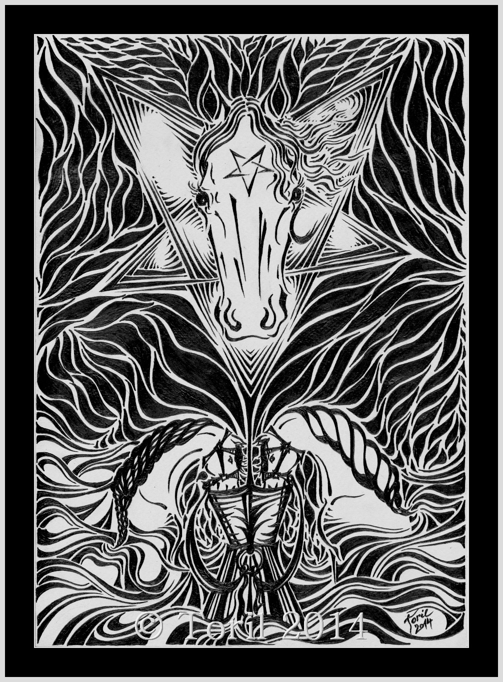 Dabel Kresba C 15 Konsky Tarot Reprodukce A4 Zbozi Prodejce