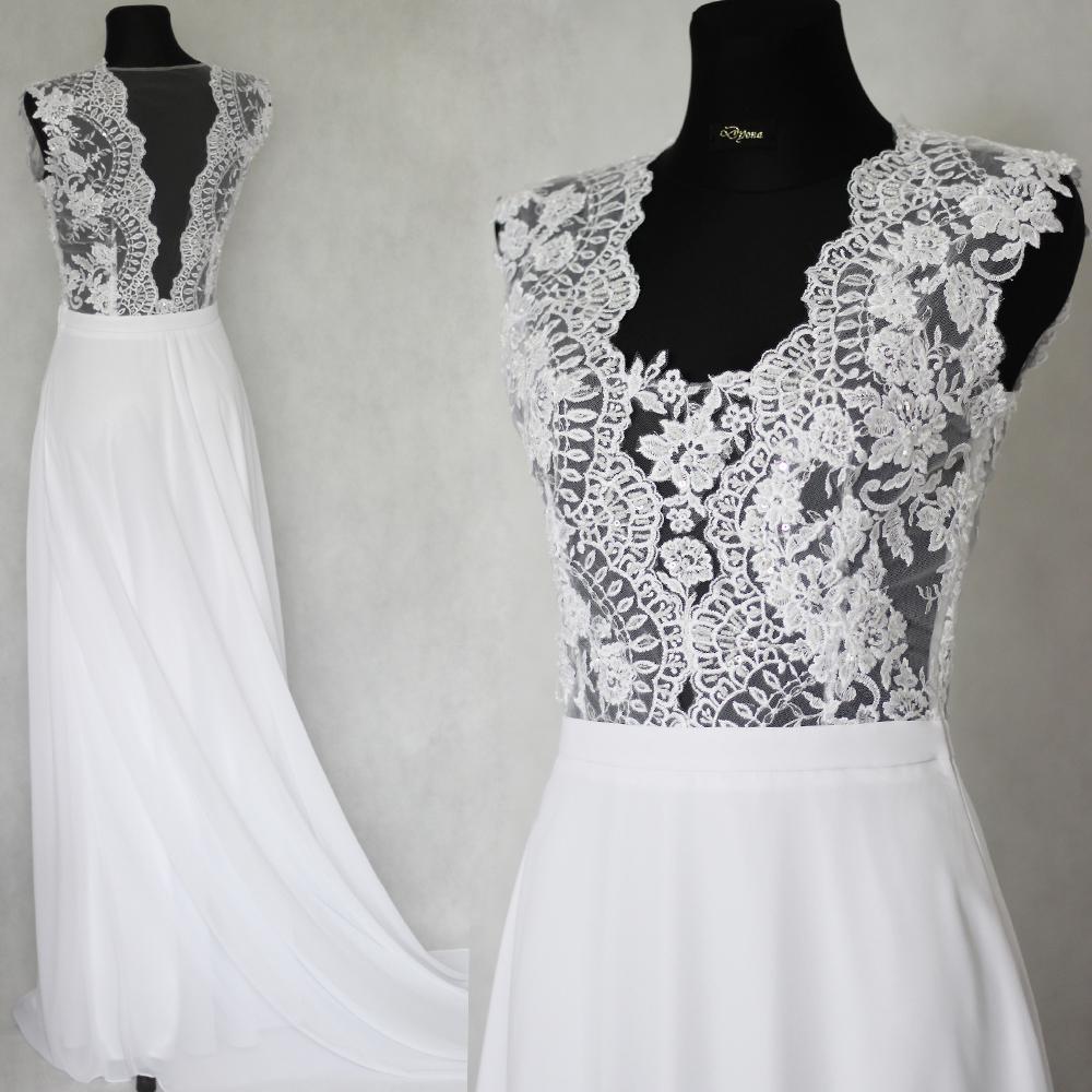 406b6cf42a7b Svadobné šaty s transparentným živôtikom   Zboží prodejce Dyona ...