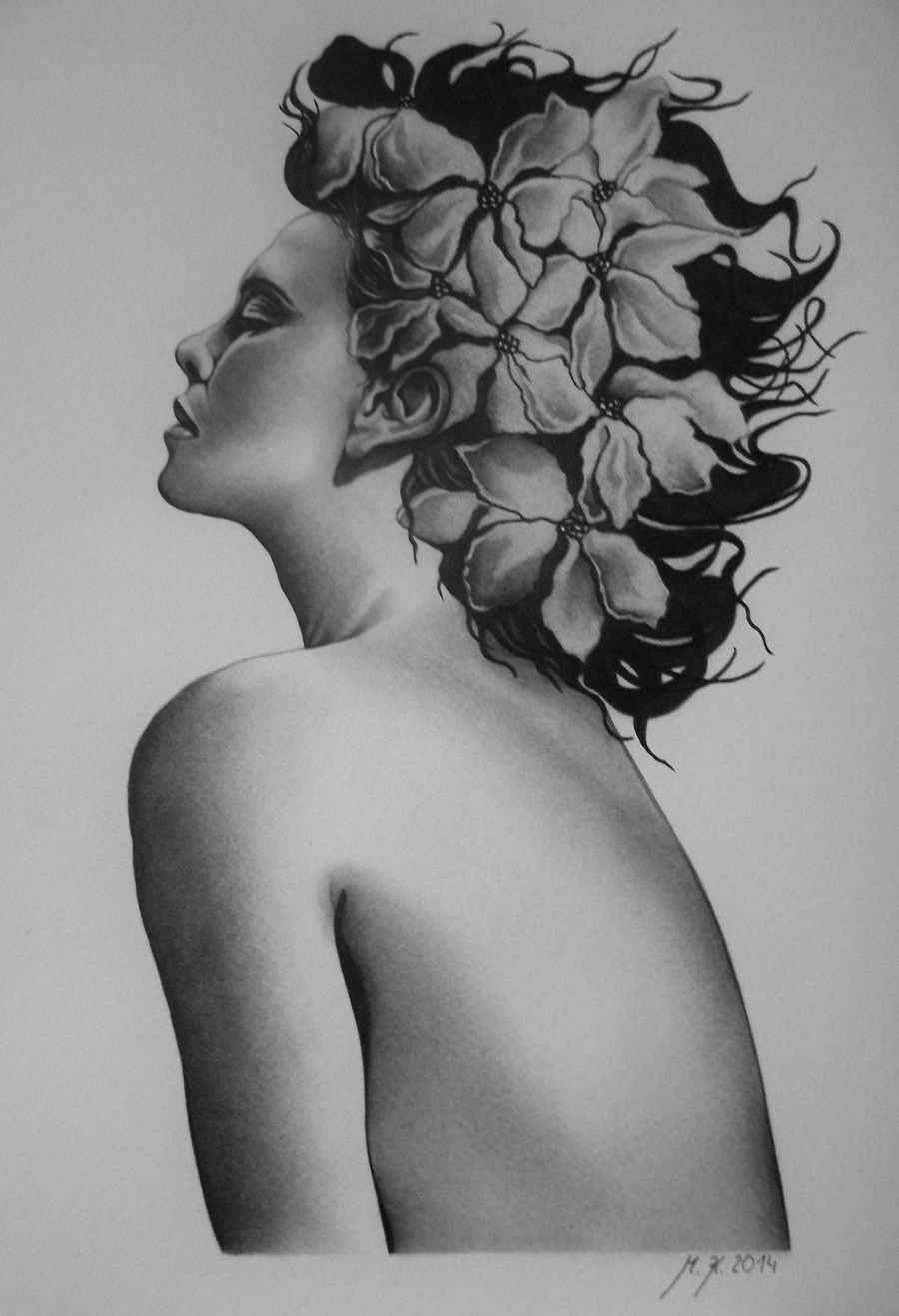 Kvetinova Zena Zbozi Prodejce Portretovani A Kresba Obrazu Fler Cz