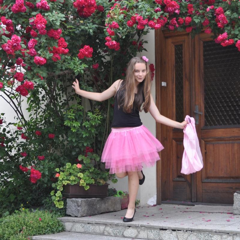 2d87366c10f Růžová tylová sukně   Zboží prodejce Princezna Pampeliška