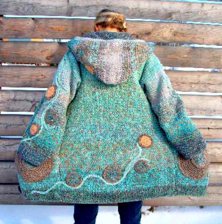 Pletený kabátek - svetr s výšivkou a aplikacemi   Zboží prodejce ... 16519086a7