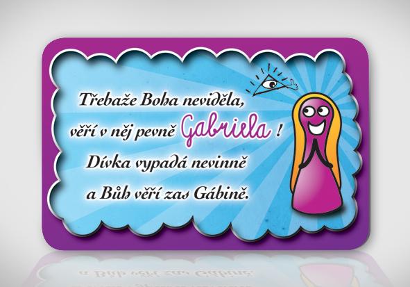 přání k svátku gabriela Poetická magnetka se jménem Gabriela / Zboží prodejce bukaj.design  přání k svátku gabriela