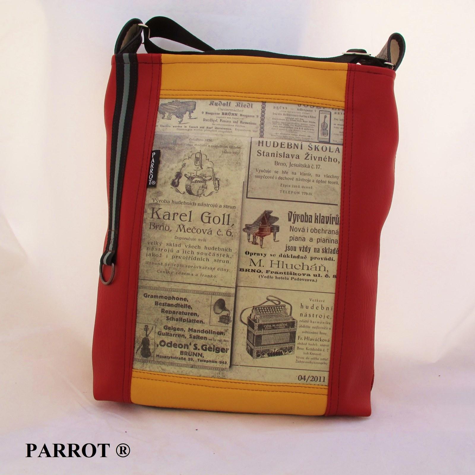 4fb6e4f006b RETRO BRNO - hudební - No.3 ..aktovka - PARROT®   Zboží prodejce ...