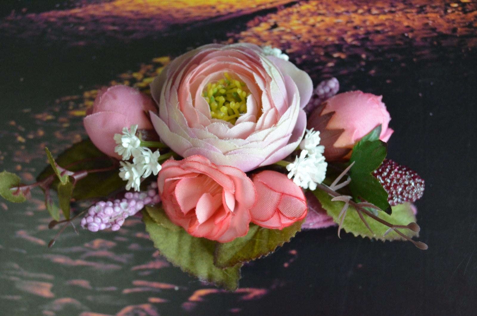 Víla růžová - spona do vlasů   Zboží prodejce L-Bee  26fd676e69