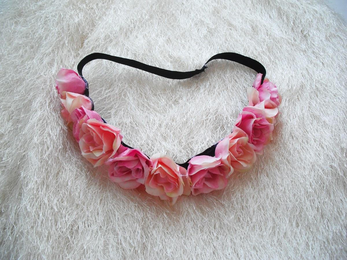 Květinová čelenka vintage styl květů   Zboží prodejce angelieenka ... 3e46fb8759
