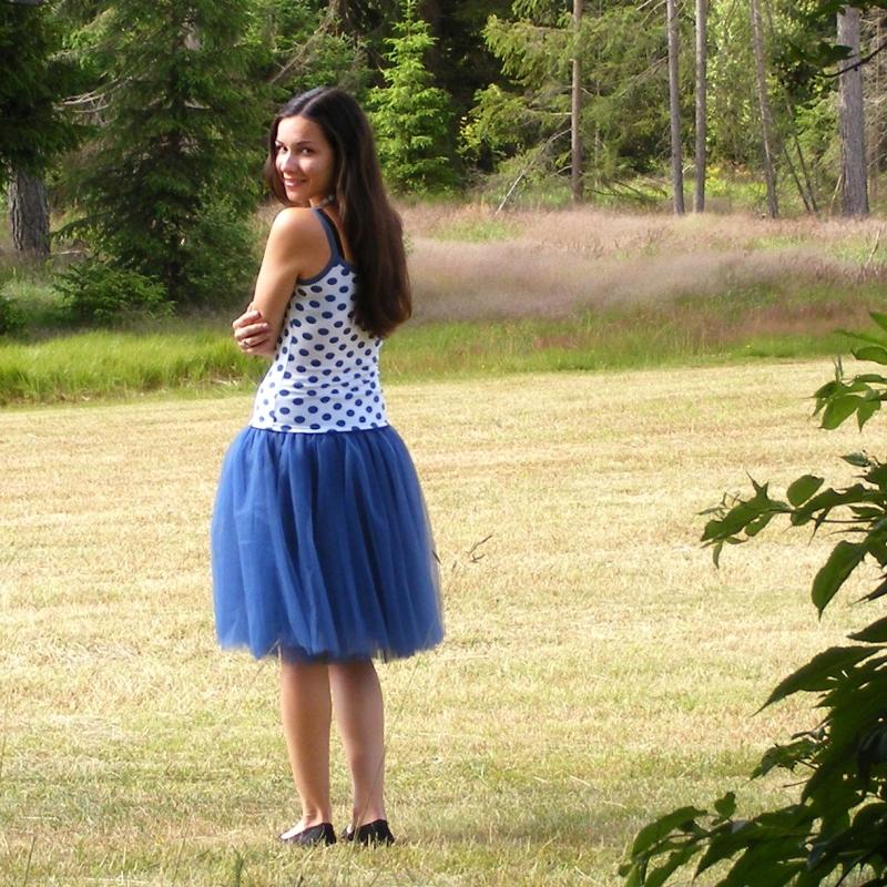 dfa229aa6f94 Tmavě modrá tylová sukně   Zboží prodejce Princezna Pampeliška