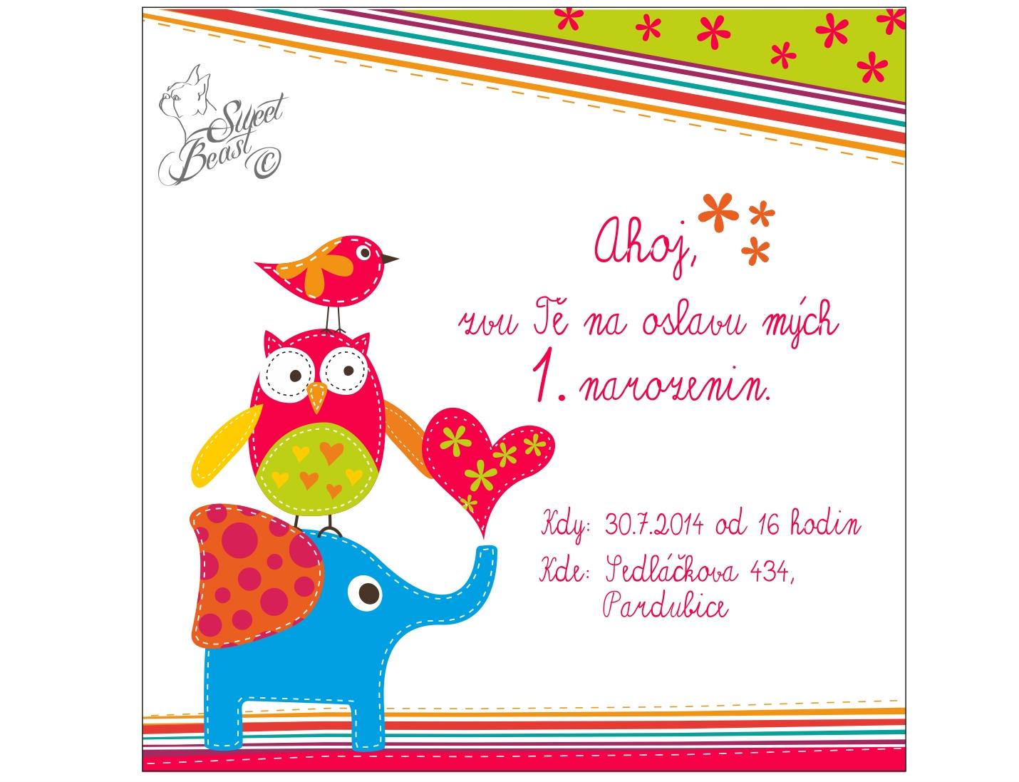 pozvánka na dětské narozeniny Pozvánka