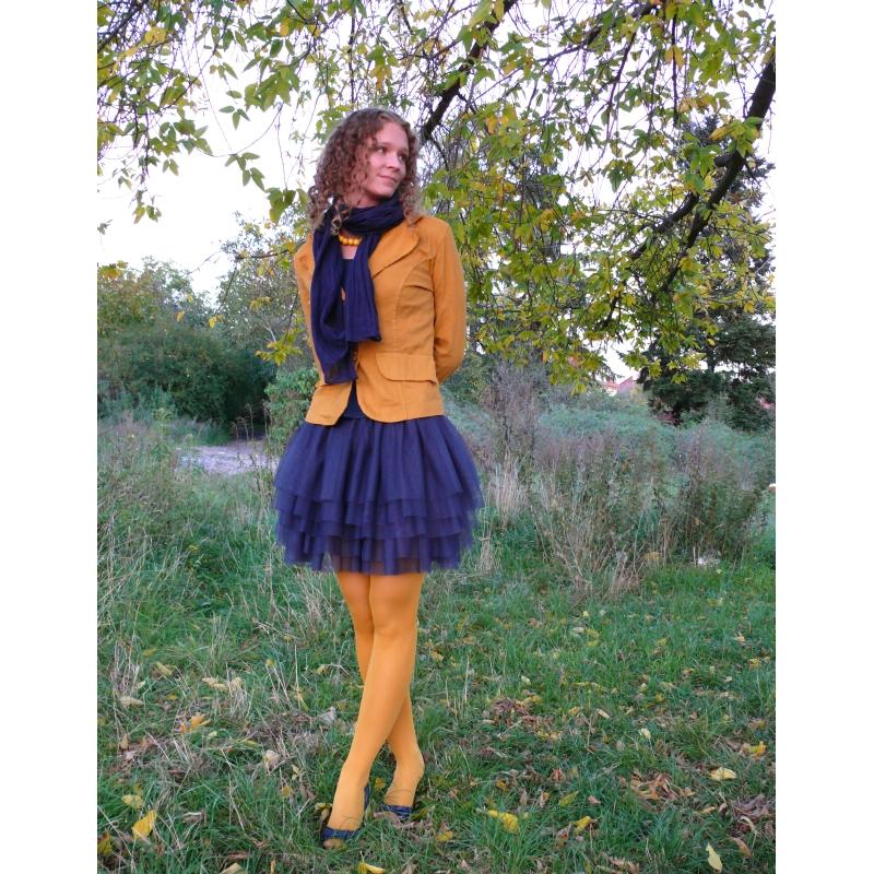 dcbbd16c5ff Tmavě modrá tylová sukně   Zboží prodejce Princezna Pampeliška