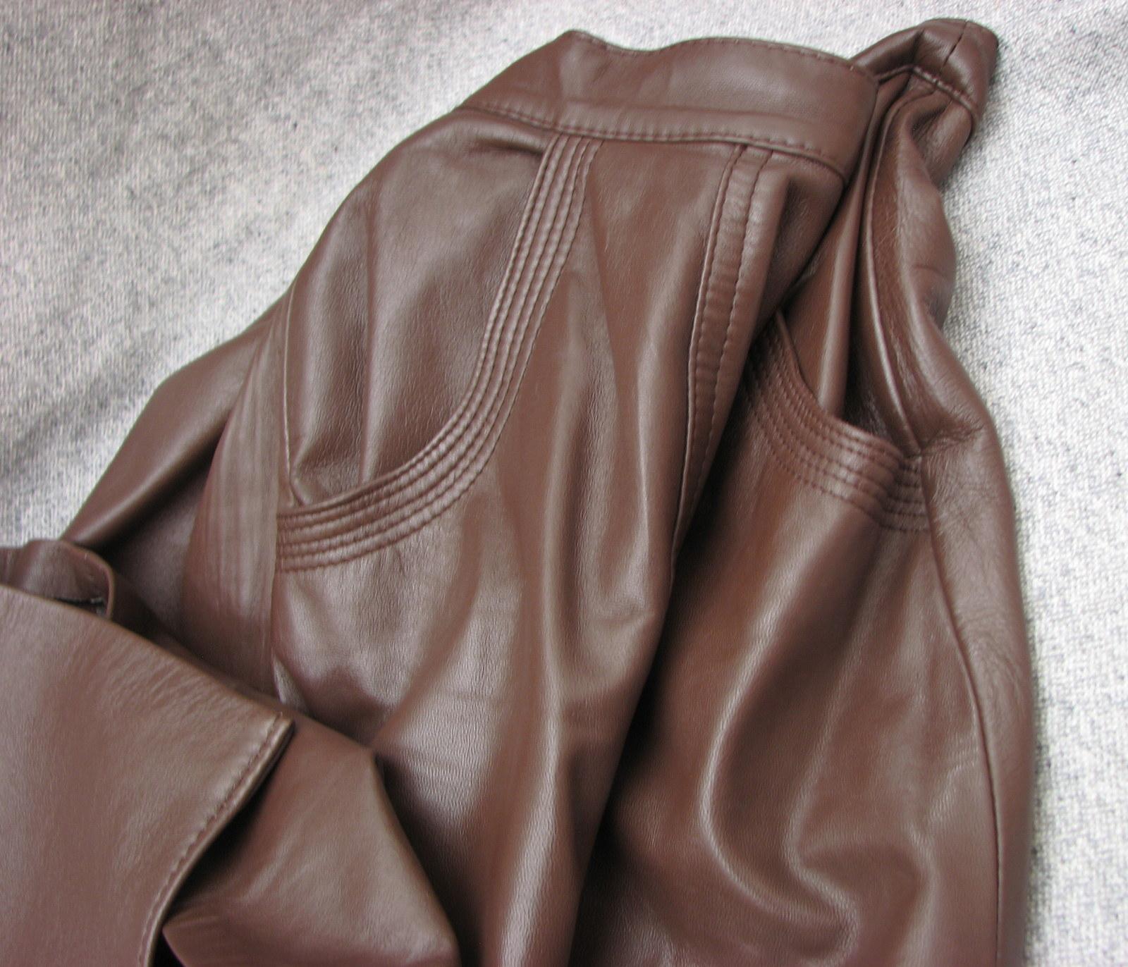582a66b0b45e Jen tak koženě...hnědá kožená sukně   Zboží prodejce letokruhy