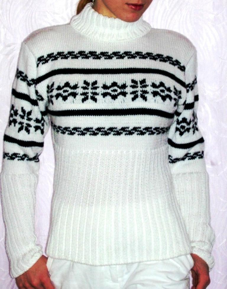 ce853fdbfd3 Ručně pletený svetr s norským vzorem   Zboží prodejce Kouzlo krajky ...