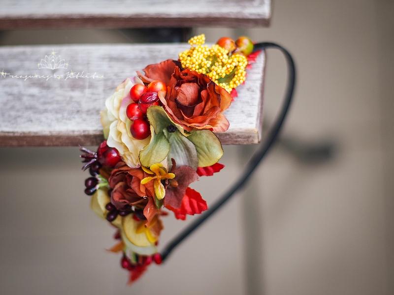 1ea67532370 květinová asymetrická čelenka - podzimní   Zboží prodejce jitkita ...