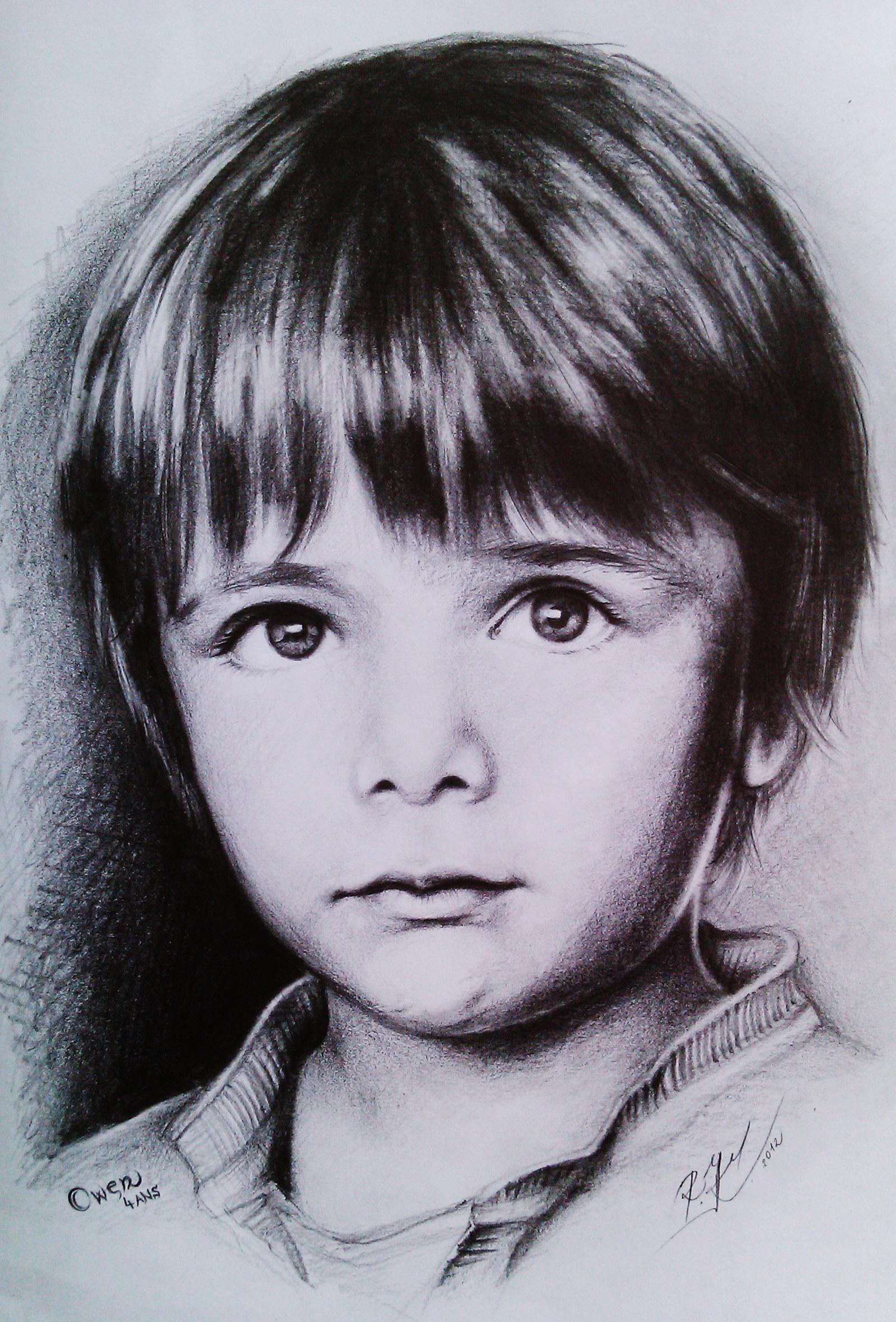 Kresba Portretu Dle Fotografie Tuzka Format A3 Jedna Portretovana