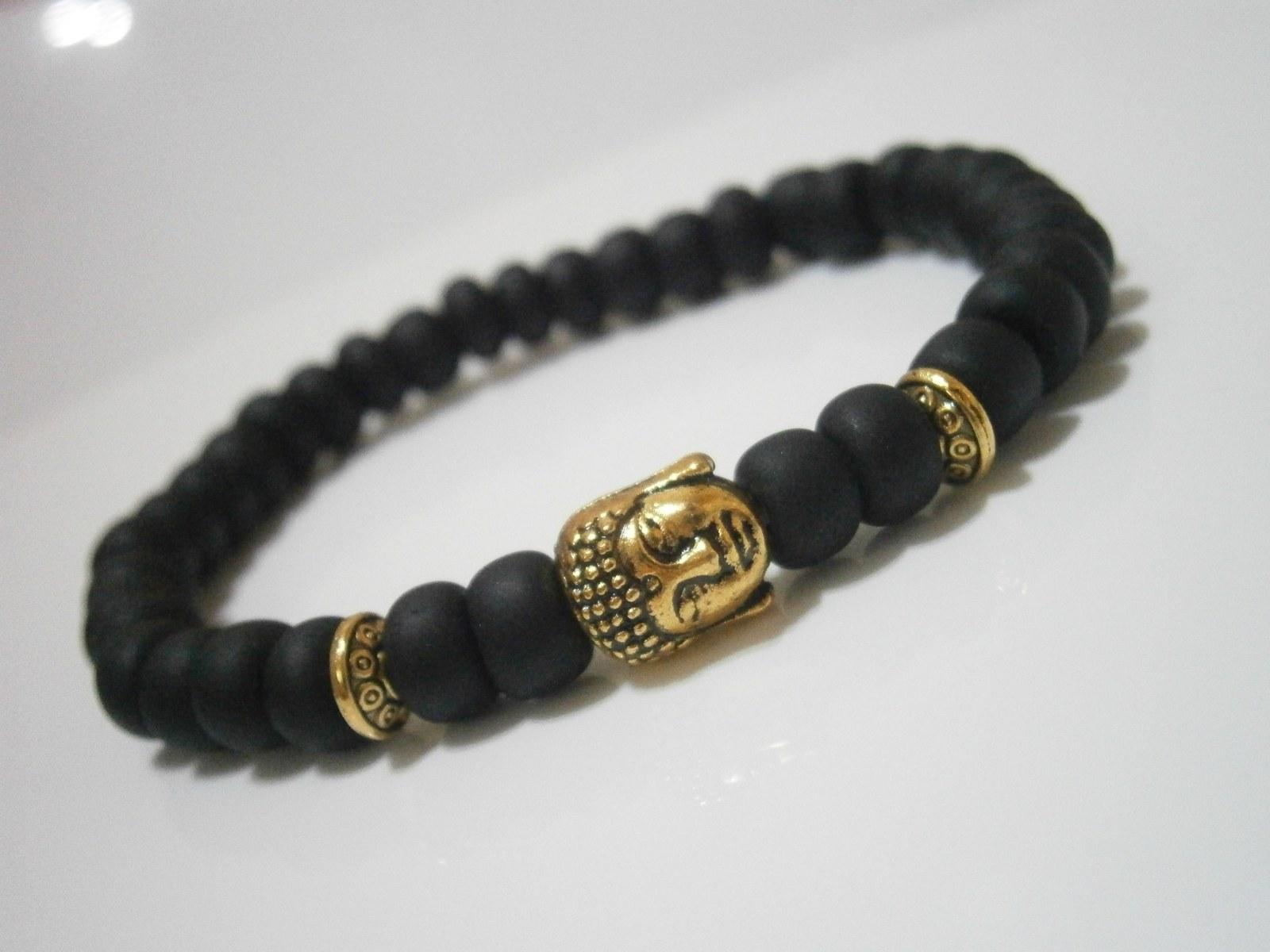 9013f8250 Černo/zlatý náramek s Buddhou / Zboží prodejce Michaela2308   Fler.cz