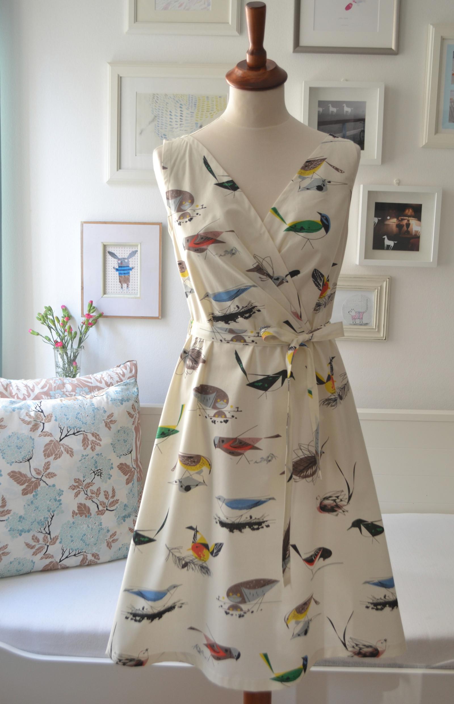 Atlas ptáků II.  šaty z bio bavlny šití na míru    Zboží prodejce ... 4a18f05a1c