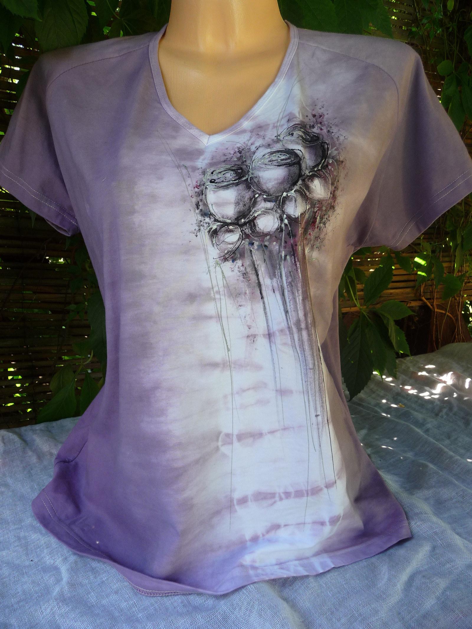 Dámské batikované triko s malbou růží( XXL)   Zboží prodejce ... 47e6a464ce