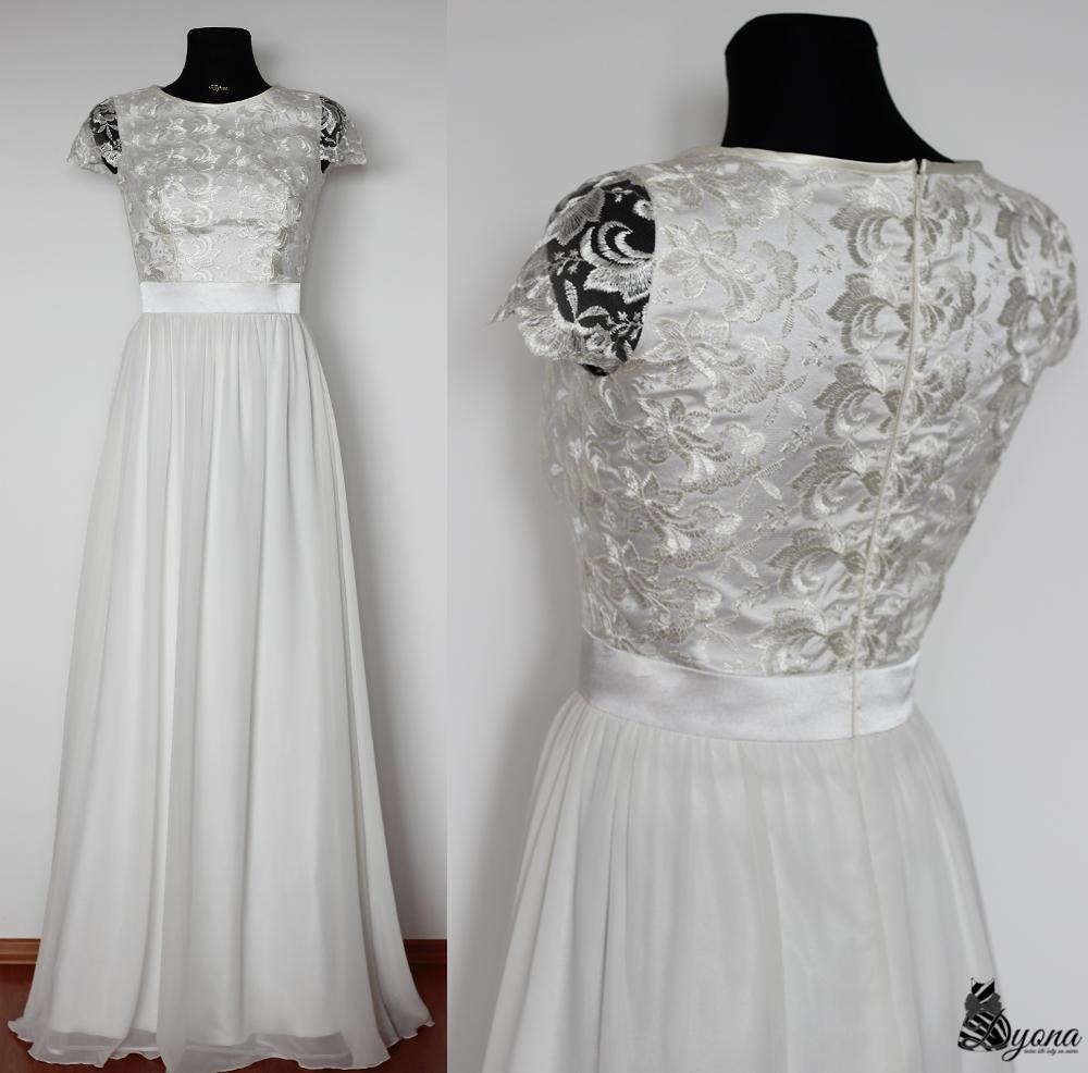 44b3b7317007 Spoločenské šaty s tylovej vyšívanej krajky a ruká   Zboží prodejce ...