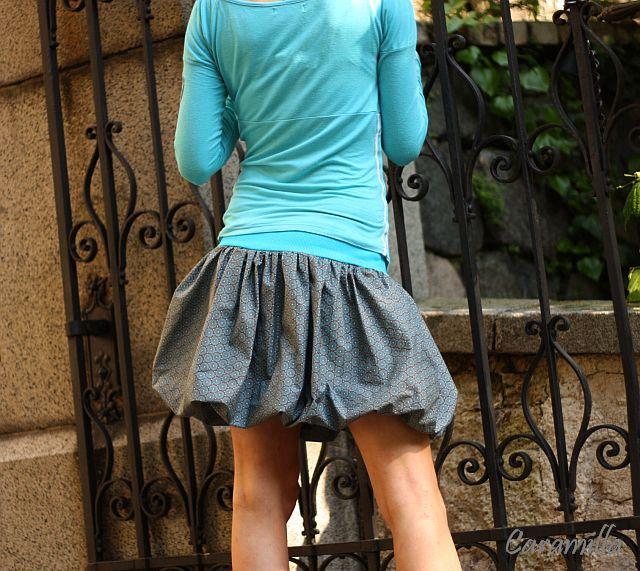 274feb3a4c36 Balonová sukně TYRKYSOVÉ MANDALY na hnědém   Zboží prodejce ...