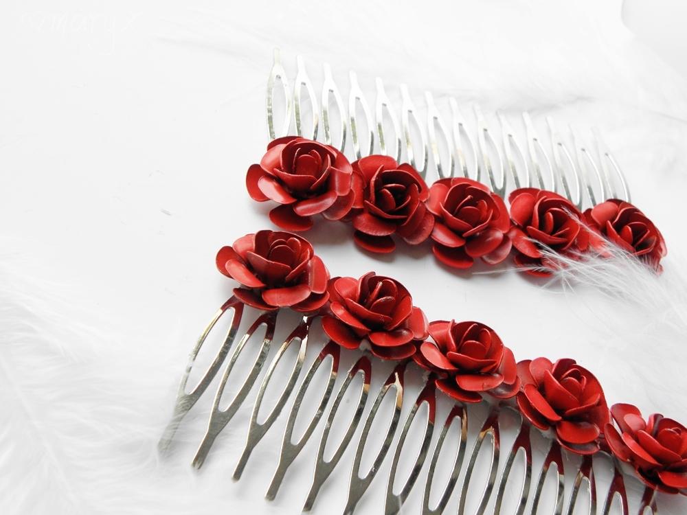 fec520f28f6 Kovové růže do vlasů   Zboží prodejce maryx