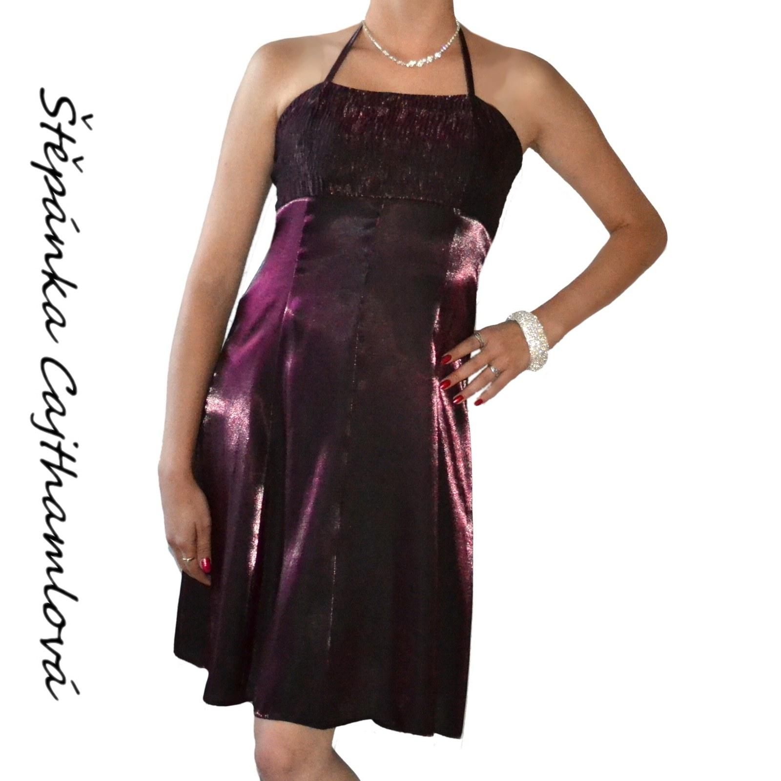 Saténové koktejlové šaty fialové - vel. 36 až 44   Zboží prodejce ... 17f830f2a1