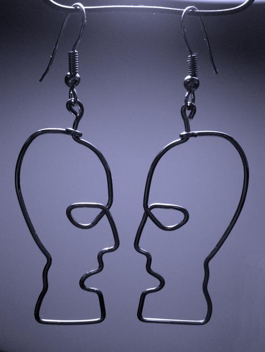 Náušnice Motiv Hlavy Pink Floyd Earrings