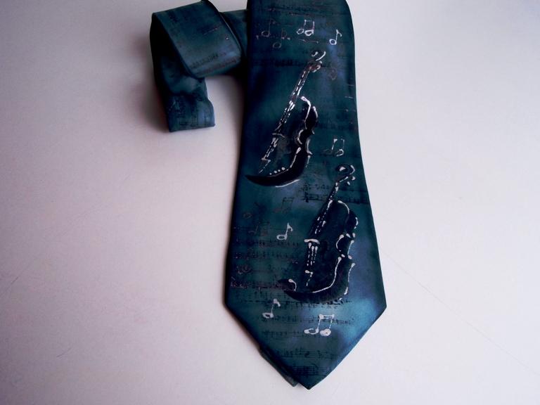 Originální kravata s hudebním motivem 731e886521