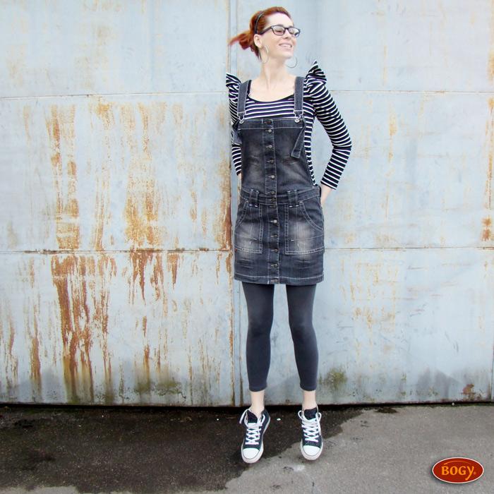 d338023ce38 šedá elastická riflová sukně s laclem a propínáním (velikost 36 ...