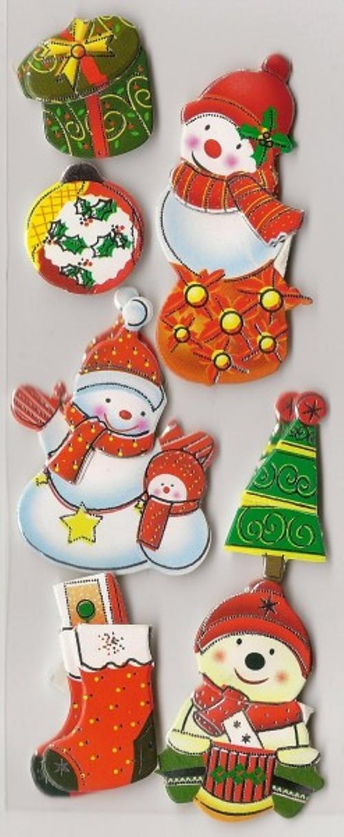 Scrapbook samolepky 3D vánoční 7ks   Zboží prodejce tjwelles  fa7bf51c88