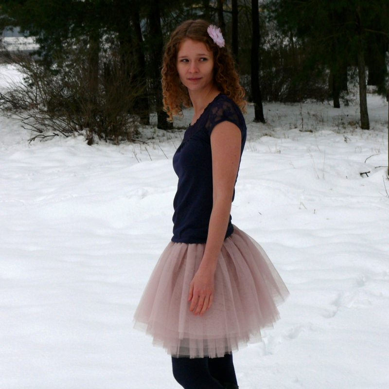 cd09339c671 Starorůžová tylová sukně   Zboží prodejce Princezna Pampeliška