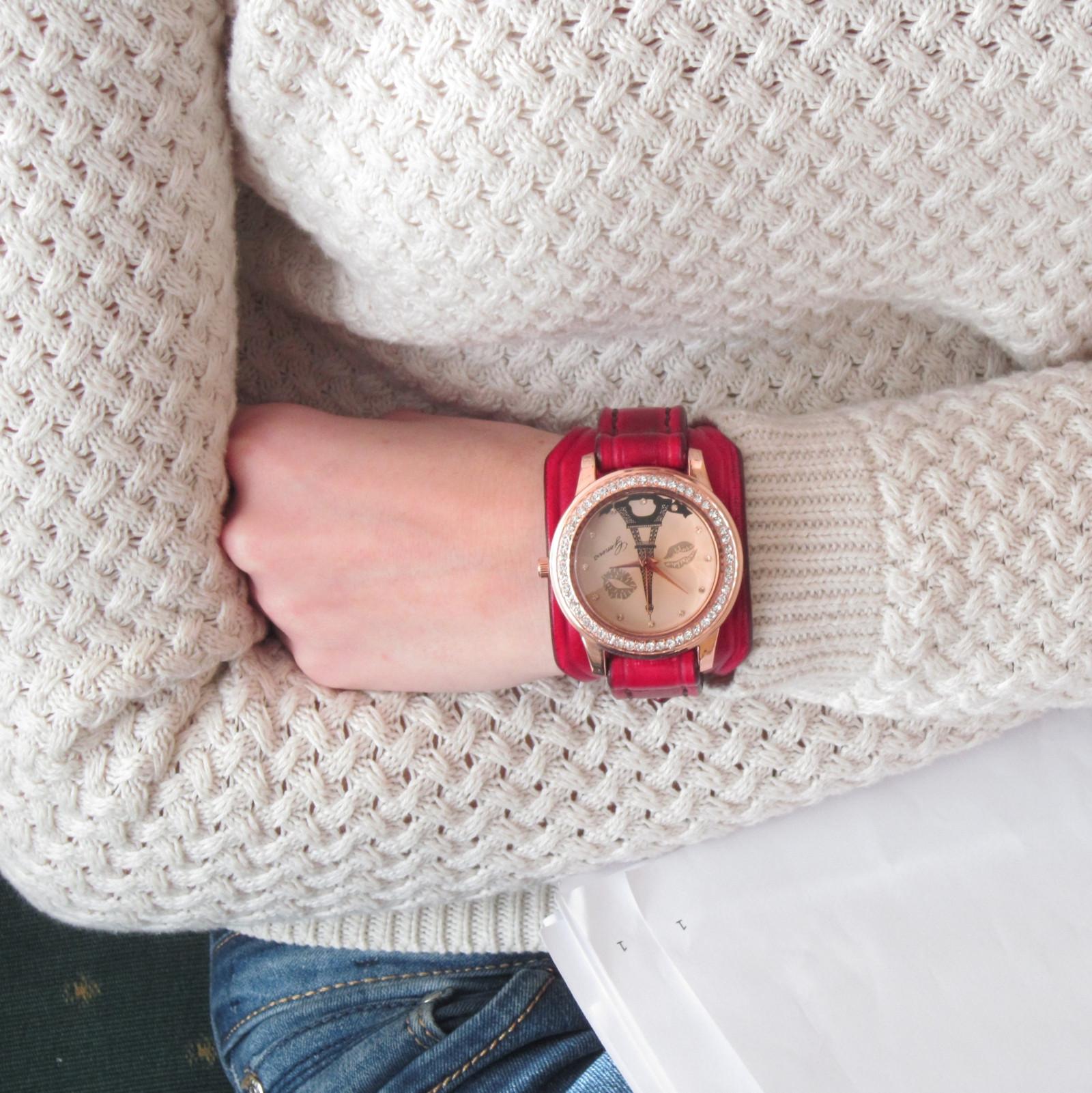 Dámské hodinky červené b7a803f82c7