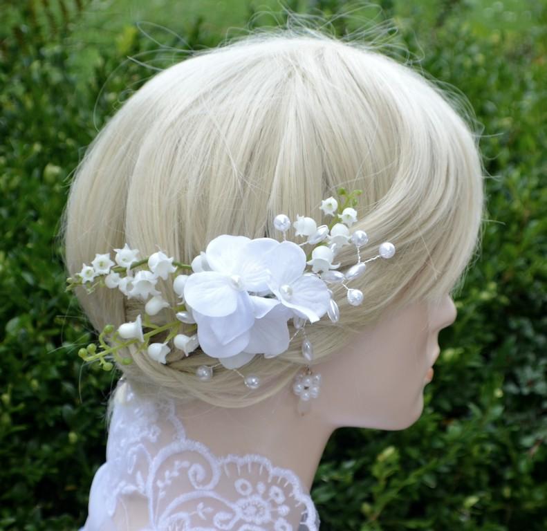 Svatební spona do vlasů Konvalinky Conwaline   Zboží prodejce ... 70890aba60