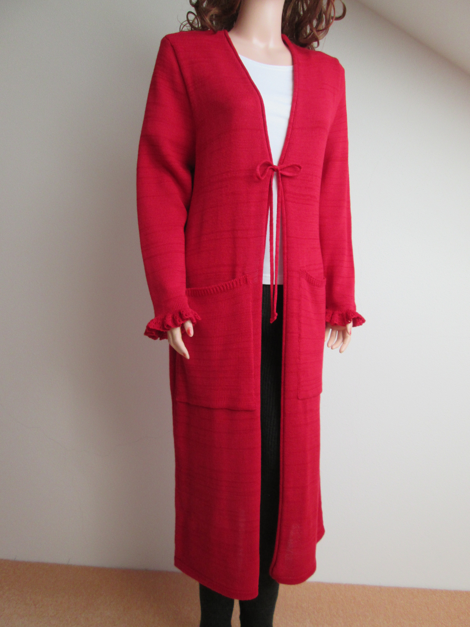 Dlouhý červený svetr   Zboží prodejce drahuli  f658ae2ea4