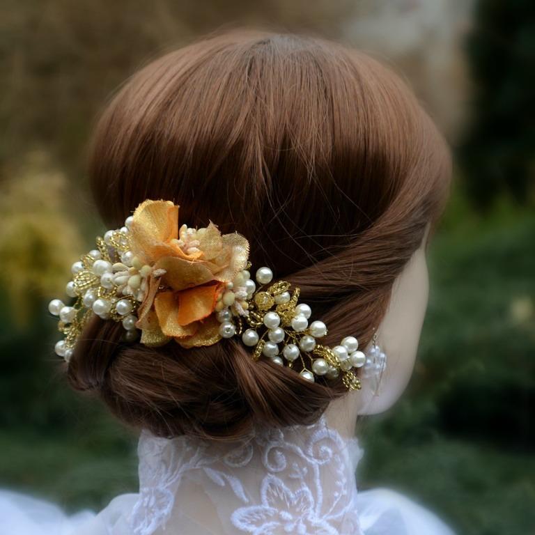 Svatební spona do vlasů La Pinturault   Zboží prodejce kultdesign ... 571a5ac98f