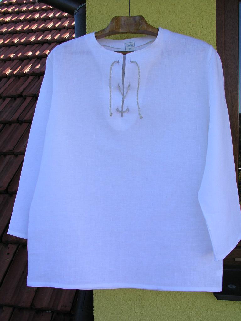 Pánská lněná košile ze 100% lnu   Zboží prodejce dolna-eco  e5401d33df