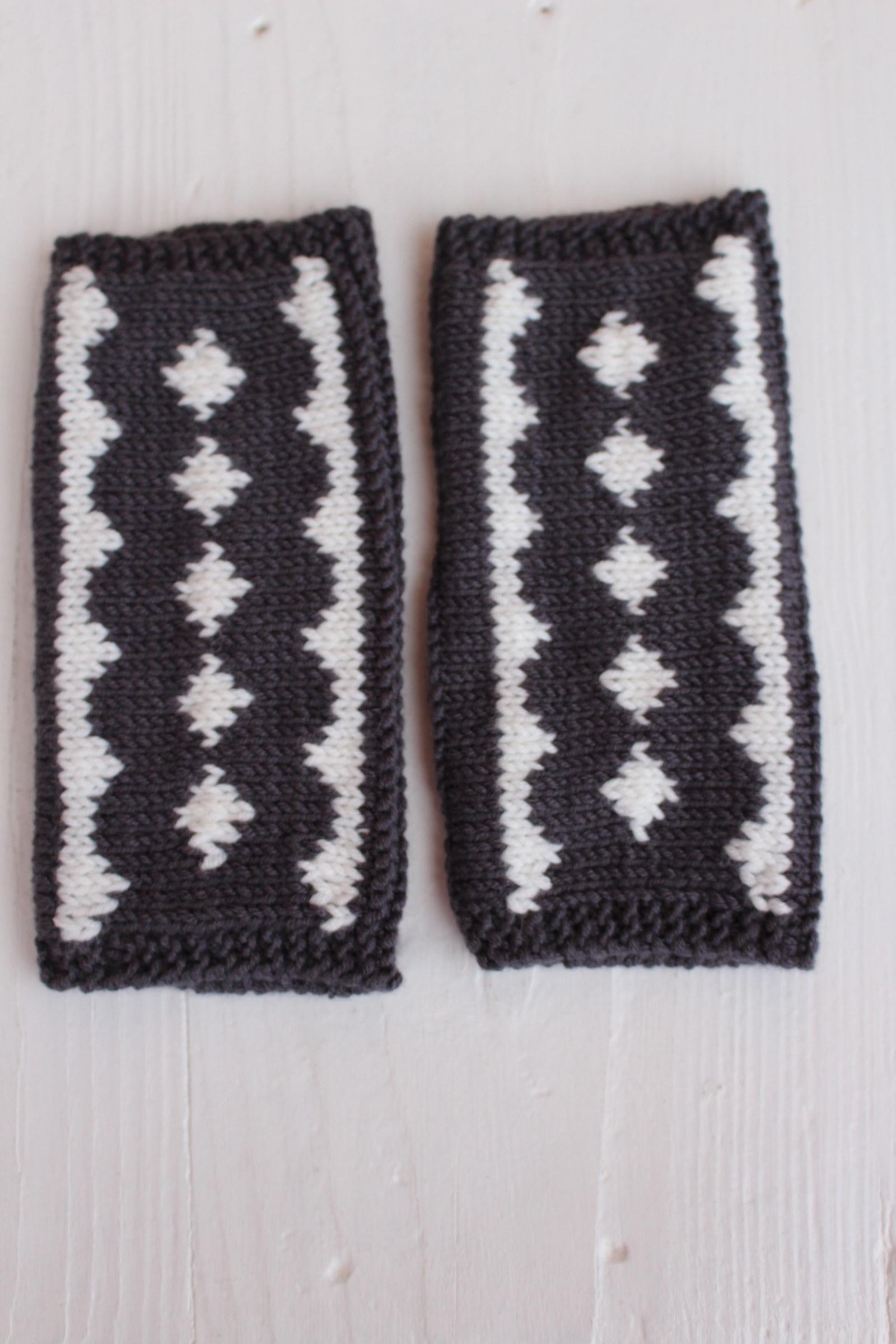 c14697292ea Norské návleky na ruce - tmavé   Zboží prodejce ruční pletení