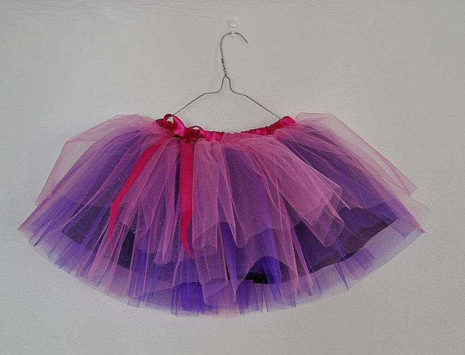 Tylová sukně fialovo růžová s mašličkou   Zboží prodejce habiKa ... 2d686924d8