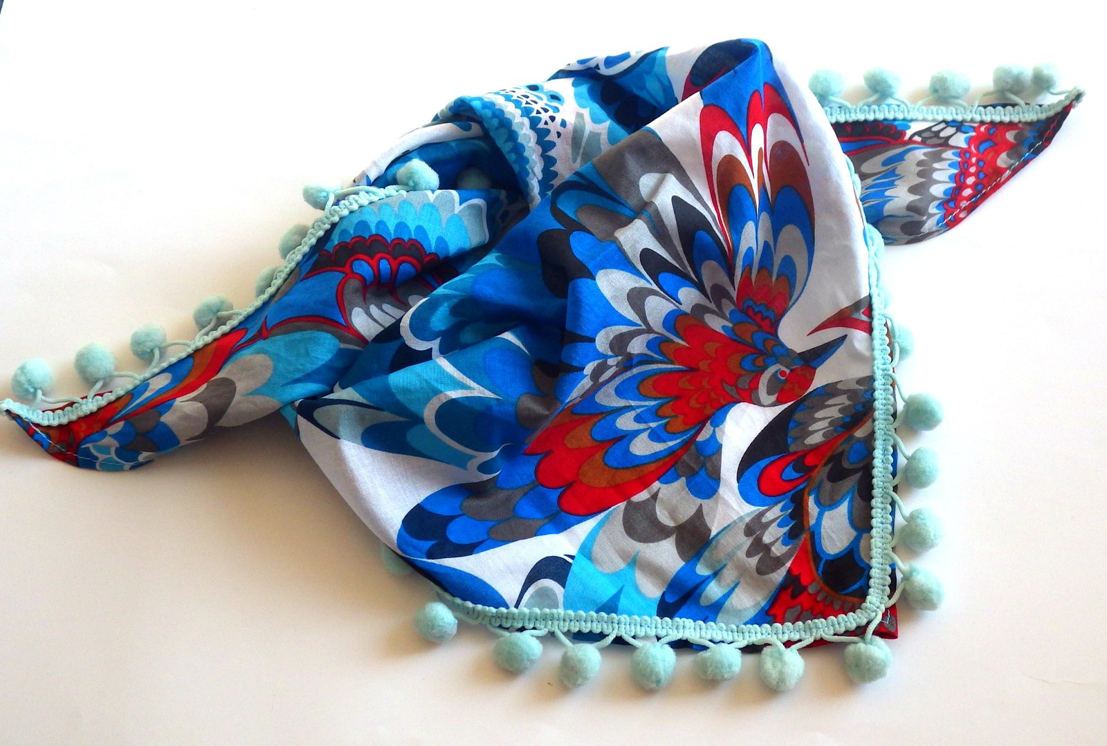 25382d760a1 Dětský šátek Ptáčci (látka z Itálie)   Zboží prodejce FashionDesign ...