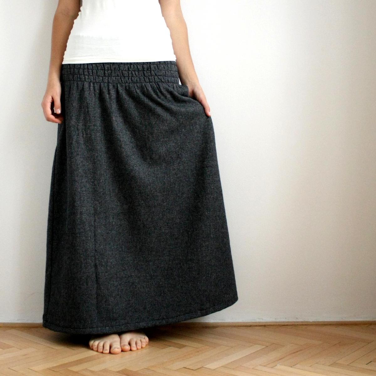 99118f61945 Dlouhá žabková sukně