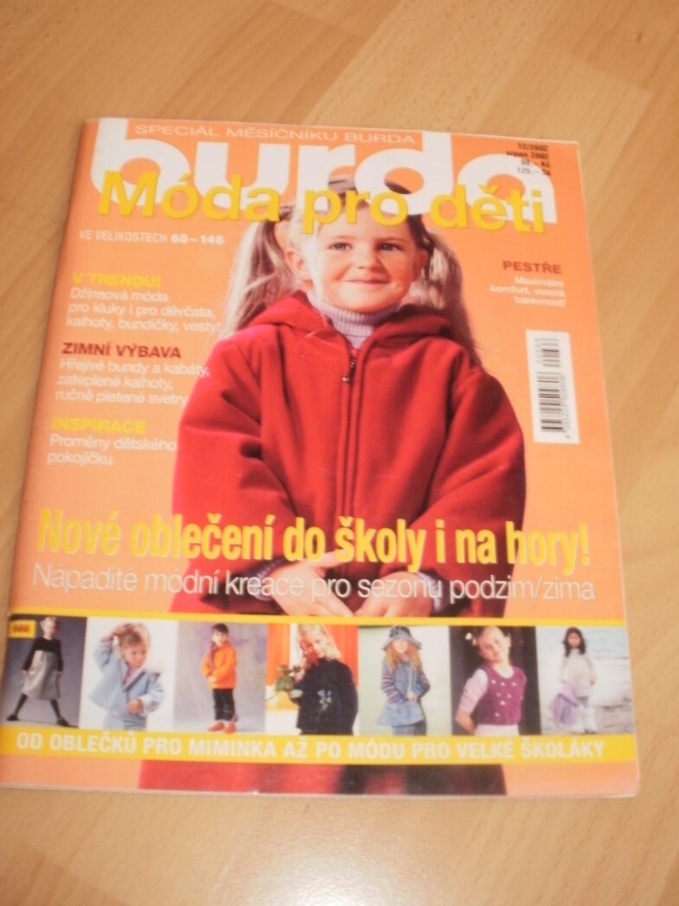 15e8e069a SPECIÁL BURDA MODA PRO DĚTI 12/2002 / Zboží prodejce Vladislava13 ...