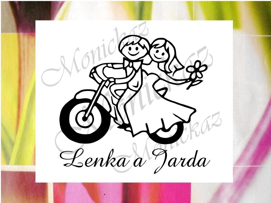 Svatební motorkářské č. 1... Omyvatelné razítko.   Zboží prodejce ... 20289c300a2