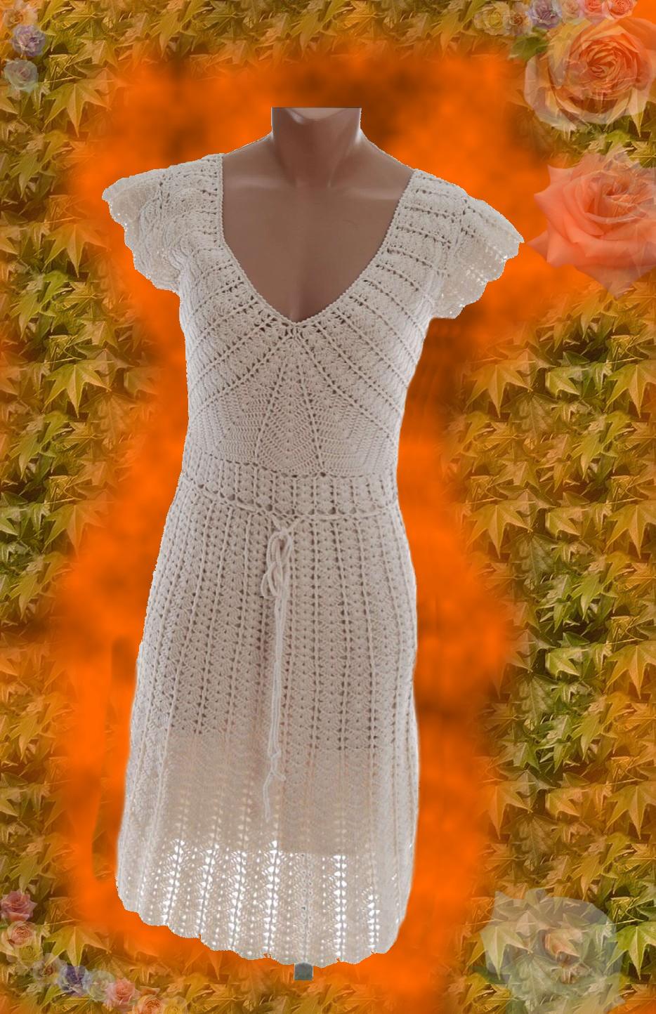 c5cab8c1f332 Luxusní háčkované šaty NÁVOD   Zboží prodejce zskncl