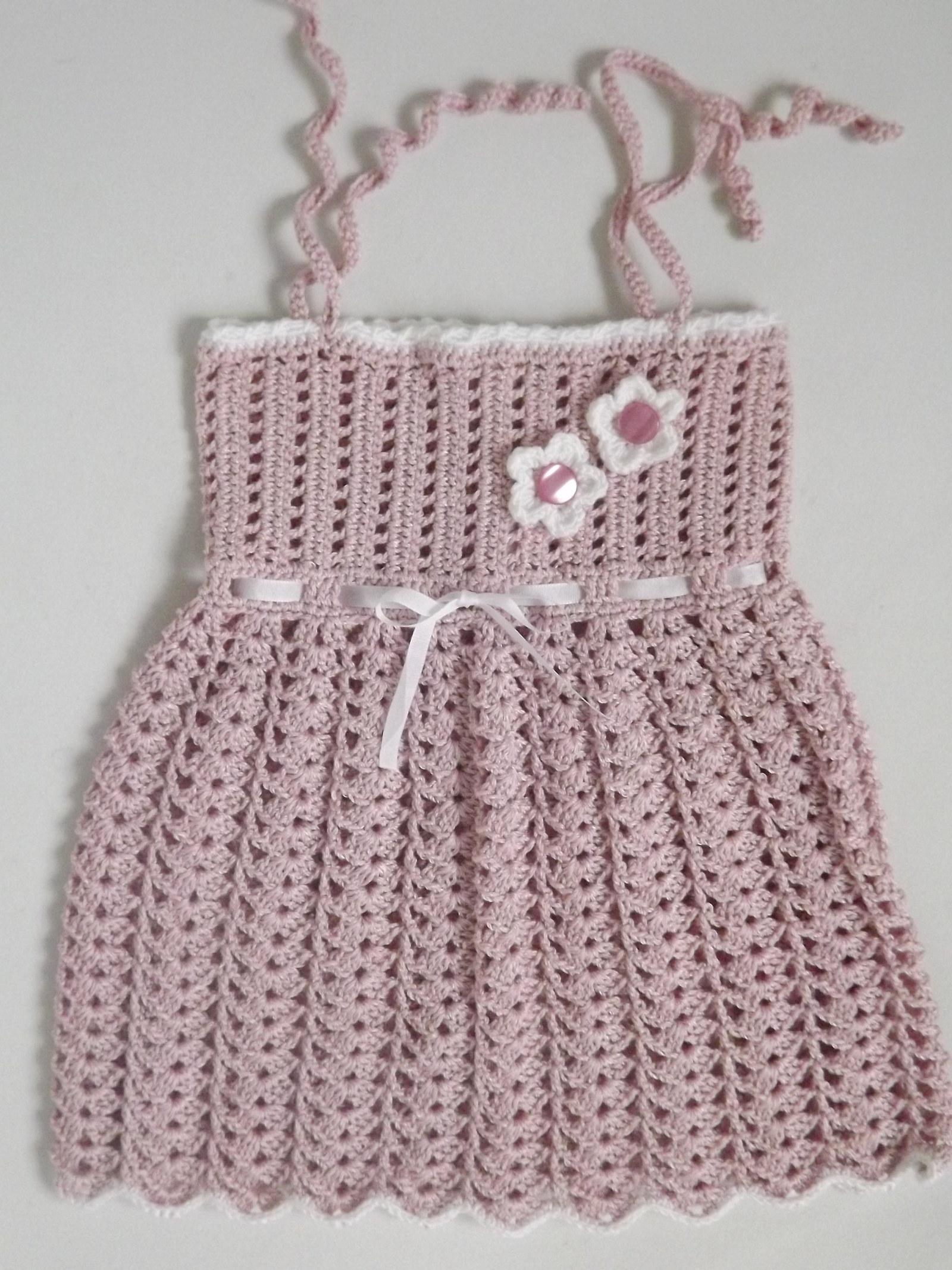1fe3c3930c3b háčkované šatičky na holčičku-miminko č.2   Zboží prodejce Nelča ...