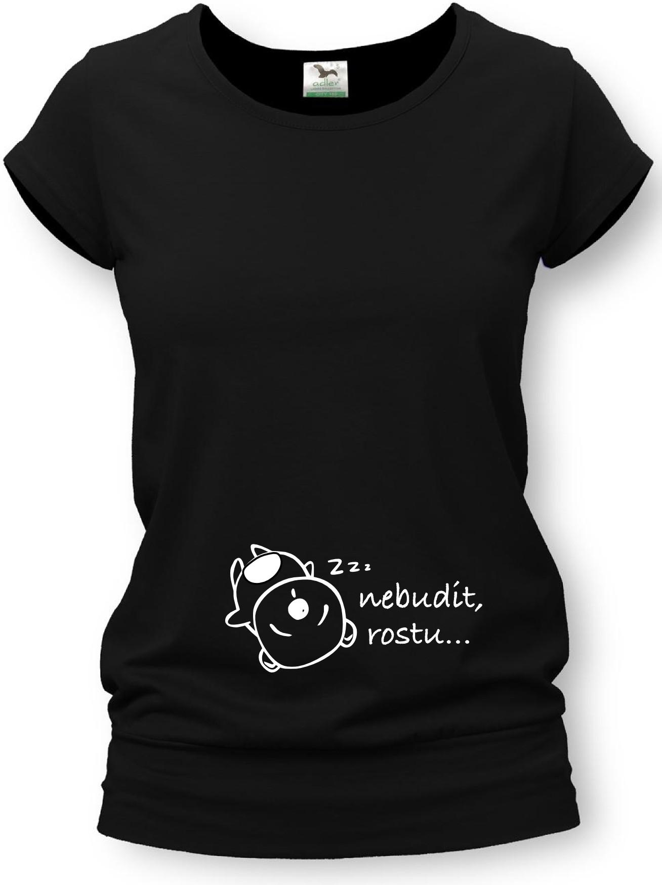 b8a2ffe64822 Těhotenské tričko s potiskem - nebudit (bílá)   Zboží prodejce ...