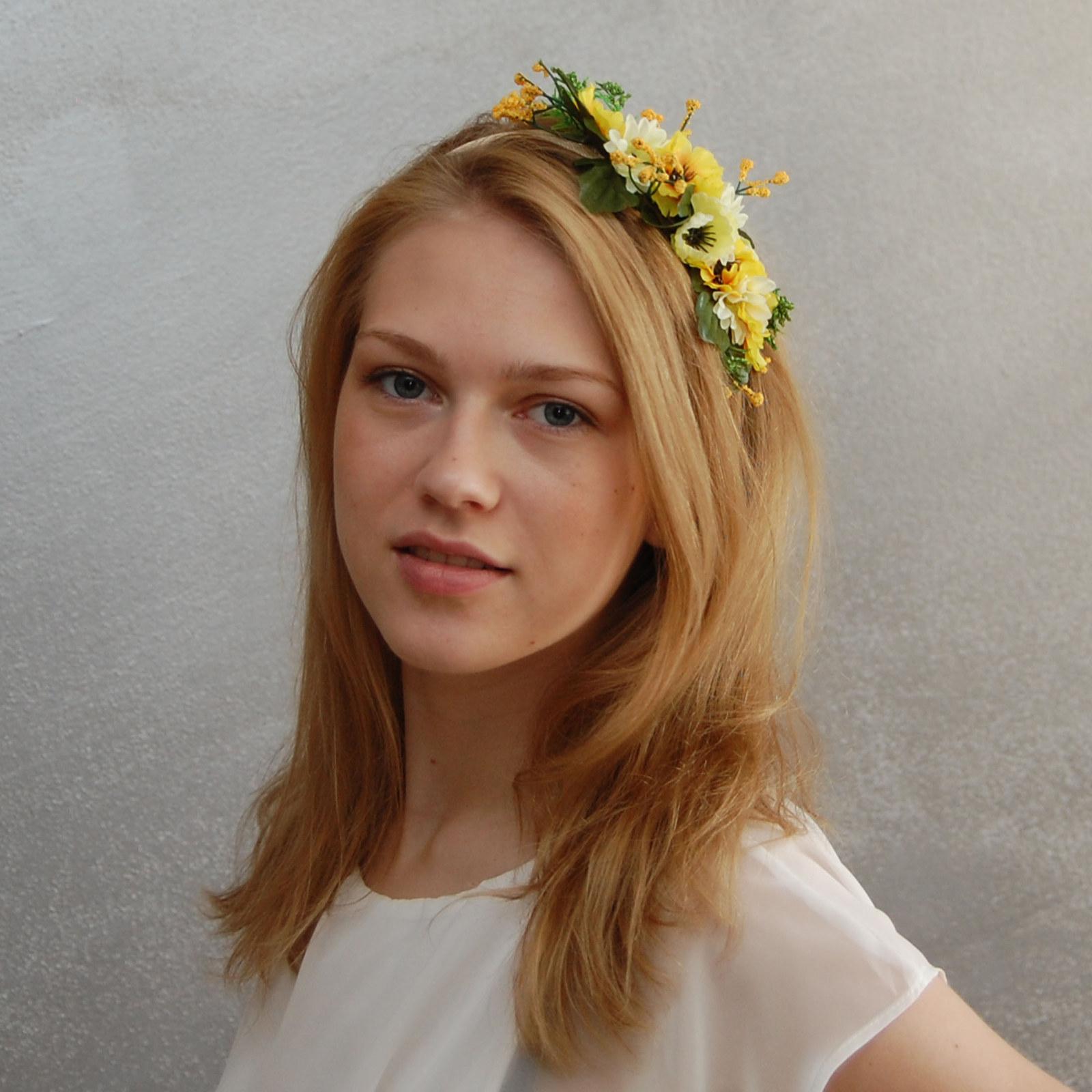 Letní kytice polních květin...čelenka sleva   Zboží prodejce Maria ... 0034e4110f