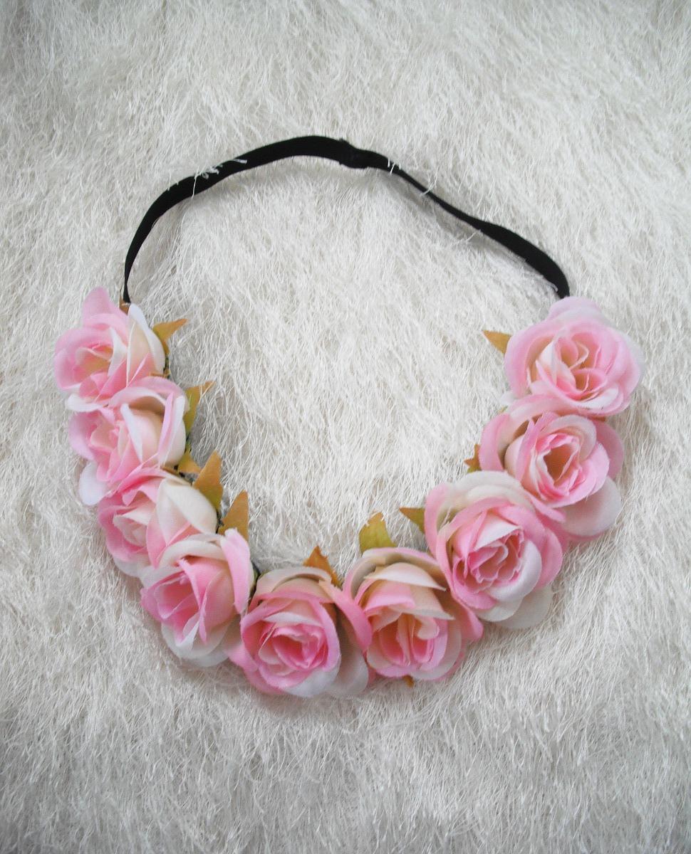 Květinová čelenka růžovobílá   Zboží prodejce angelieenka  453a05f1ba